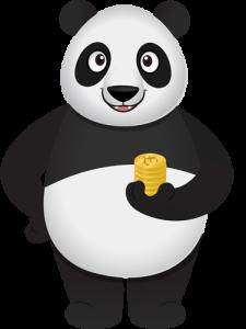 panda coin stack small