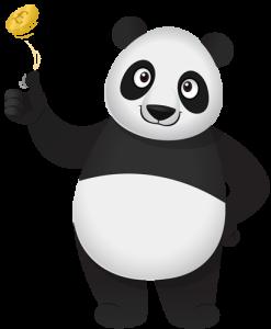 panda flip coin small