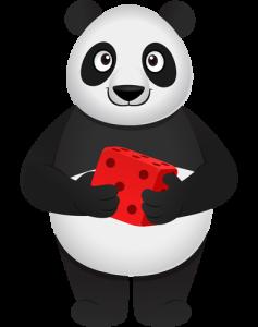 panda hold dice small